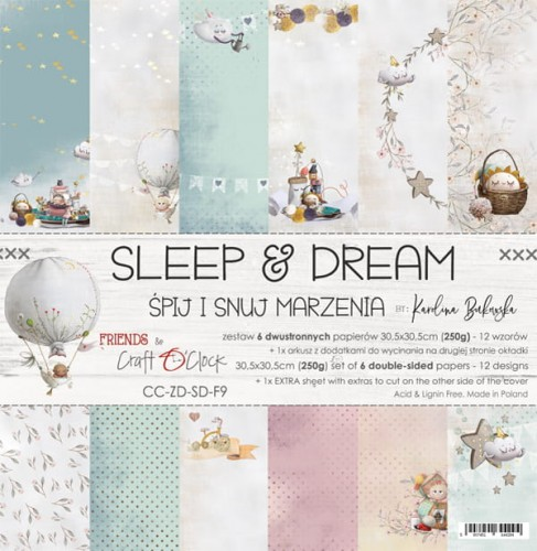 Sleep and dream 12x12 papperspad