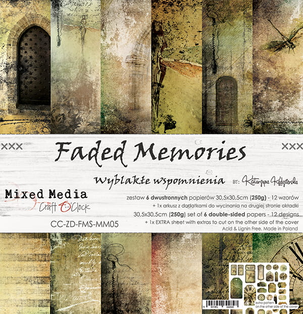 Faded memories 12x12 papperspad