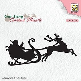 "Clearstamp ""Santa claus with reindeer sleigt"""