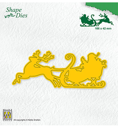 SHAPE DIES Santa in Sledge  SD181