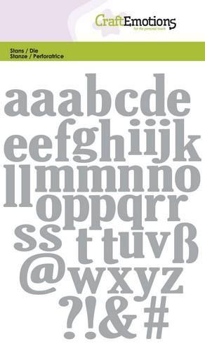 Craftemotions små bokstäver