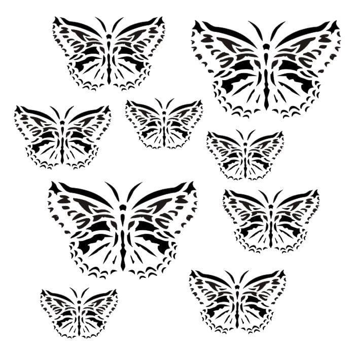 13 Arts stencil Butterflies Artun12