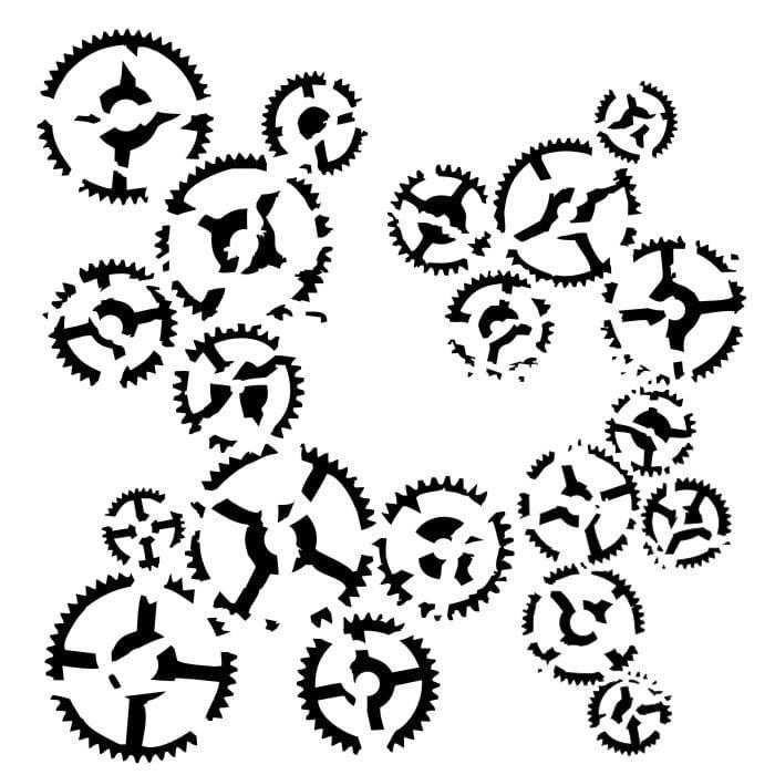 13 Arts stencil Dance of gears ARTVI12