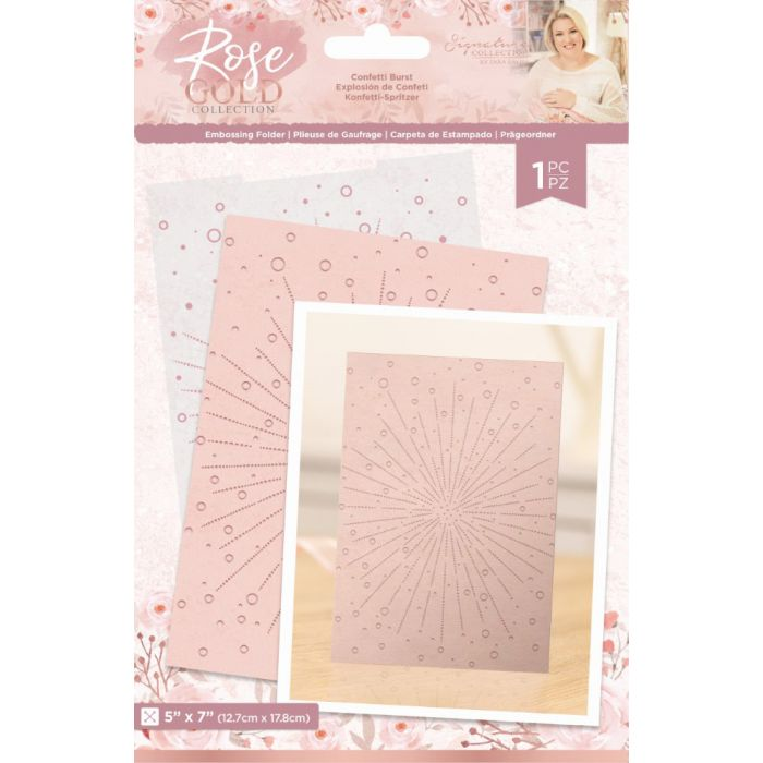 "5 x 7"" Embossing Folder - Confetti Burst"