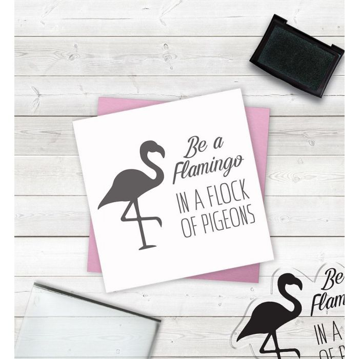 Clear Acrylic Stamps - Be a Flamingo