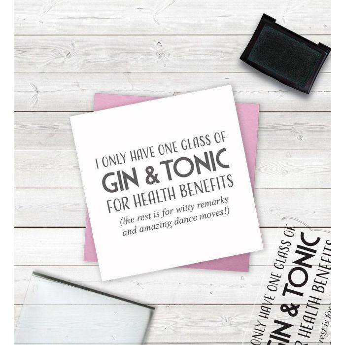 Clear Acrylic Stamps - Gin and Tonic