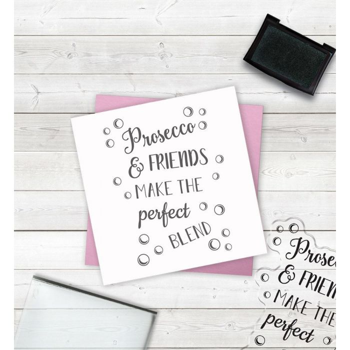 Clear Acrylic Stamps - Laughter and Prosecco
