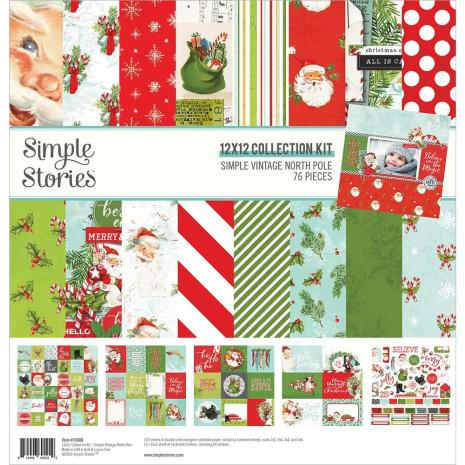 Simple stories Vintage North Pole  Kit 12x12