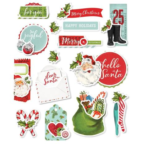 Layered Stickers 15/Pkg - Simple Vintage North Pole