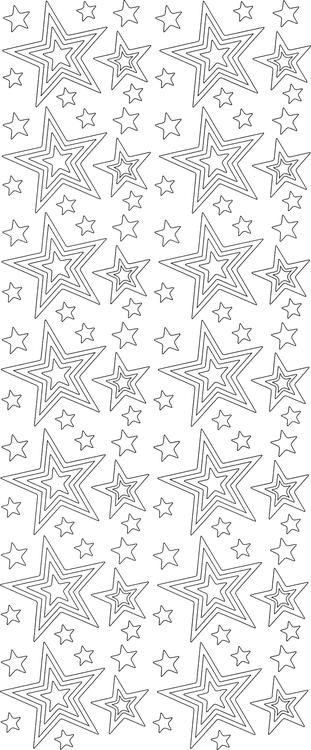 Stickers stjärnor Guld