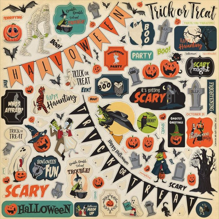 Carta Bella Happy Halloween Cardstock Stickers 12X12