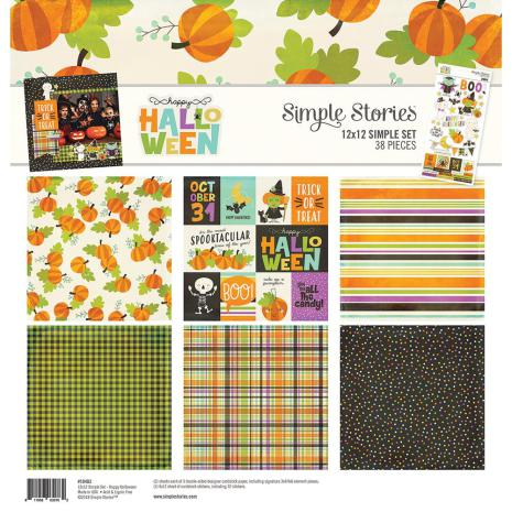 Simple Stories Simple Sets Collection Kit 12X12 - Happy Halloween