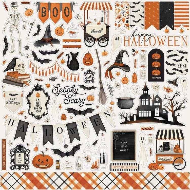 Carta Bella Halloween Market Cardstock Stickers 12X12 -