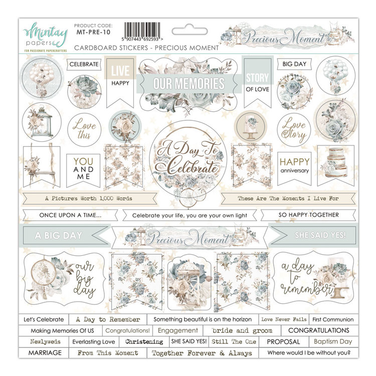 Precious moment Chipboard dekorationer 12x12