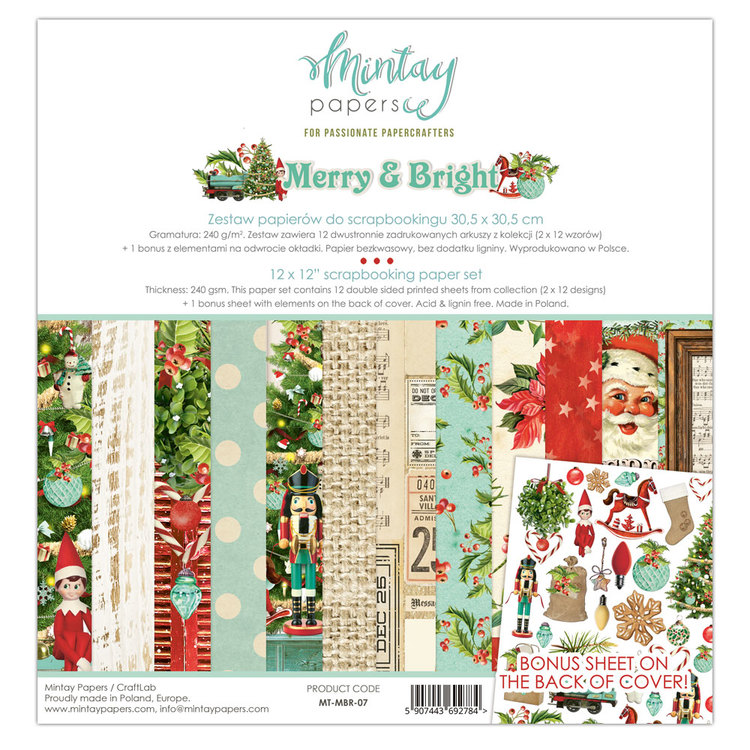 Merry & Bright  12x12 papperspad