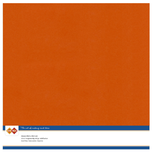 Linen Cardstock SC59  Autumn orange