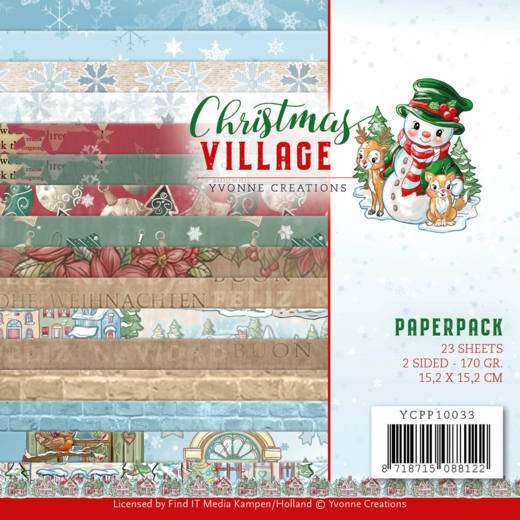 Christmas Village Paper pads 6x6