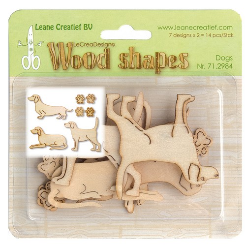 Wood shapes Hundar