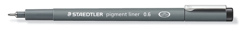 Pigment  fineliner 0,6 mm svart
