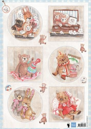 Decoupage sheet Teddy bears 2