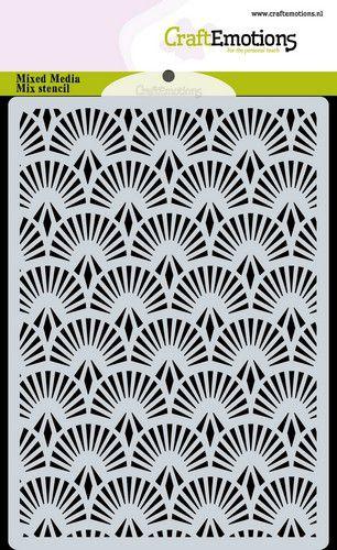 Stencil background Fan Art Deco