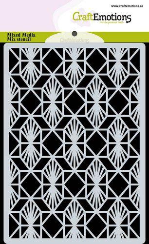 Stencil  background Geometric Art Deco