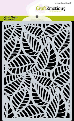 Stencil background Skeleton leaves