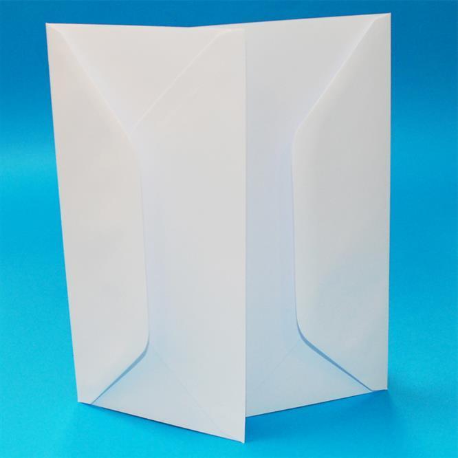 50 st Kort och kuvert vit