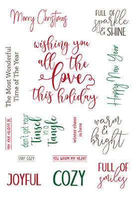 Holiday wishes clear  stamp