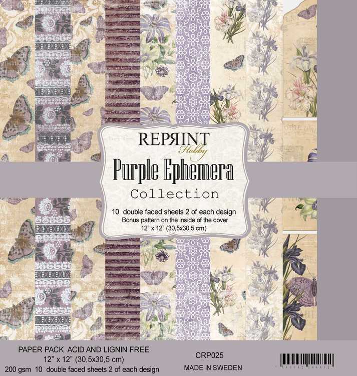 Reprint purple ephemera 12*12