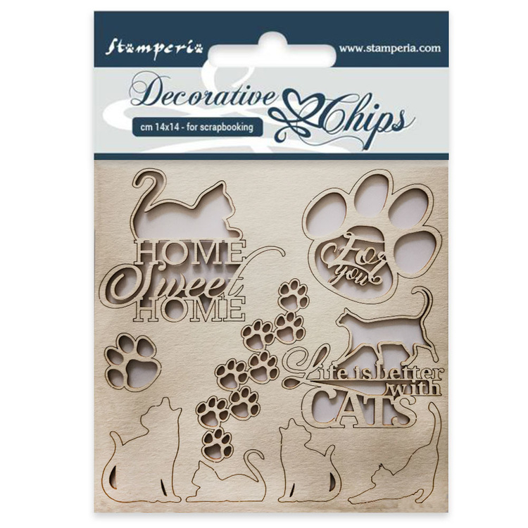 Stamperia chipboard cats
