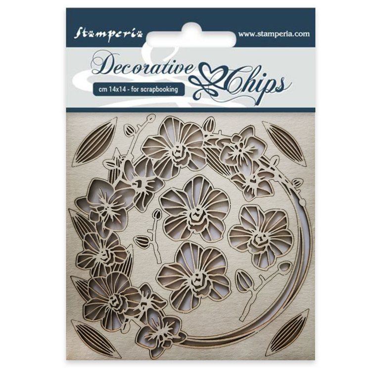 Stamperia Chipboard Blommor o girlanger