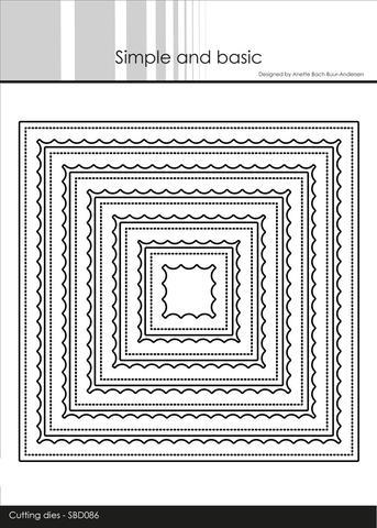 Scallop square SBD086