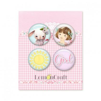 Badge Little girls world