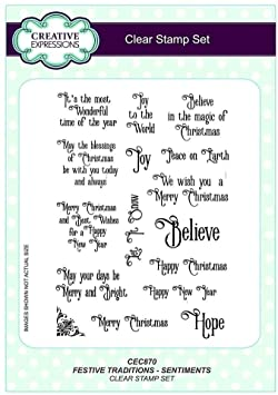 Festive traditions -Sentiments clear stamp