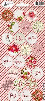 Stickers Rosy Cosy rund