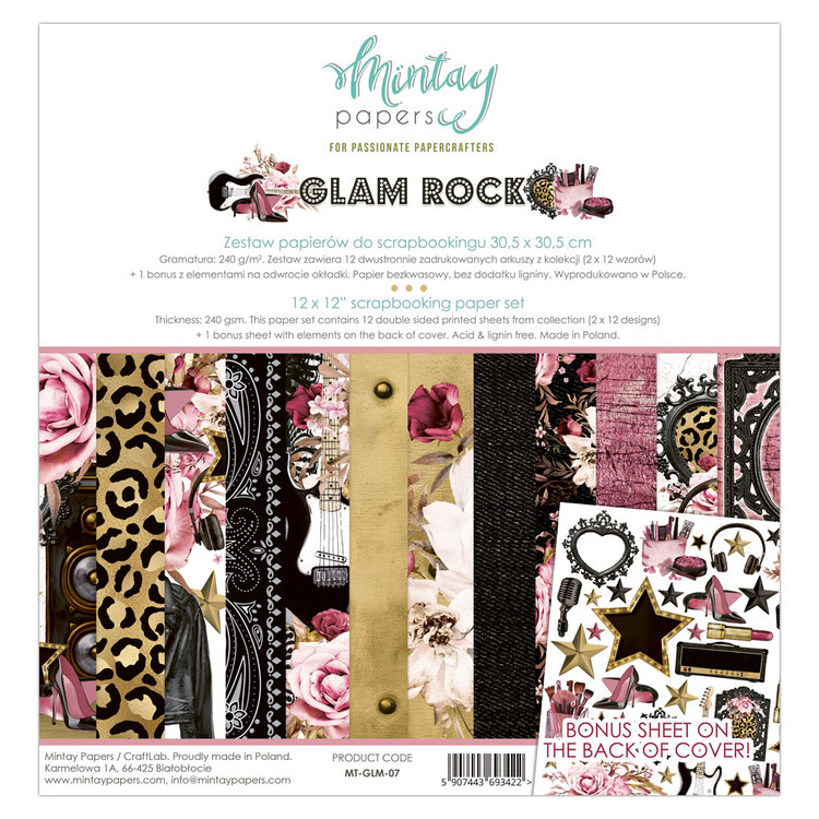 Mintays  Glam Rock 12x12 papperspad