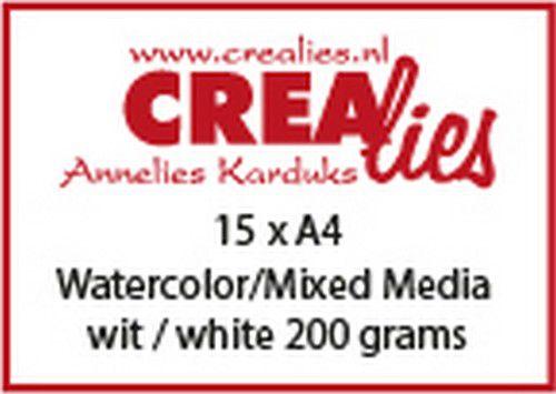 Crealies Akvarellpapper A4