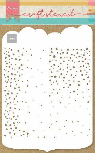Stencil Slimline  dots