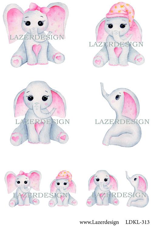 Ldkl313 Baby elefant rosa