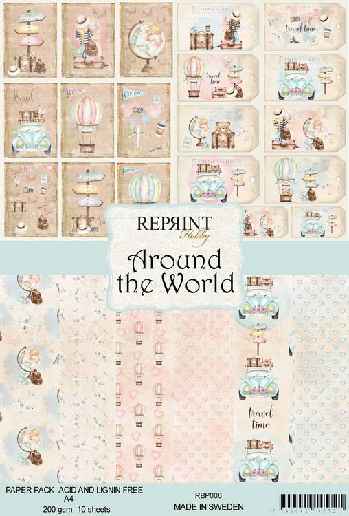 Around the World Papperpad A4