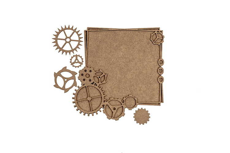 Frame with cogs Steampunk Heaven MD-20011