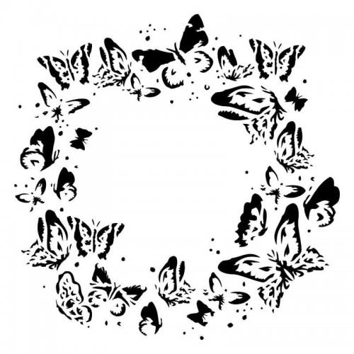Wreath of butterflies