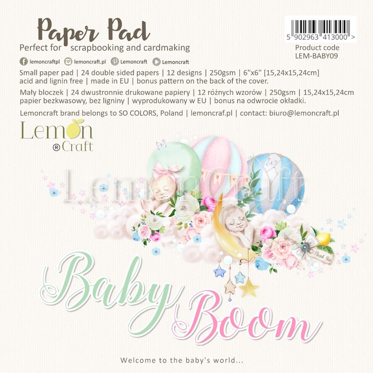"""Baby boom paperpad 6"""""""