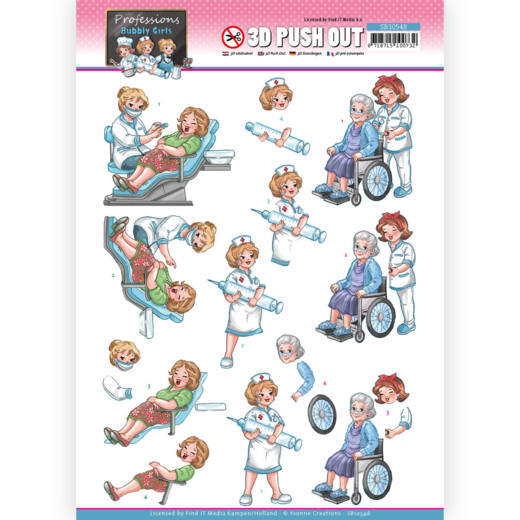 Bubbly Girls Proffesions - Nurse