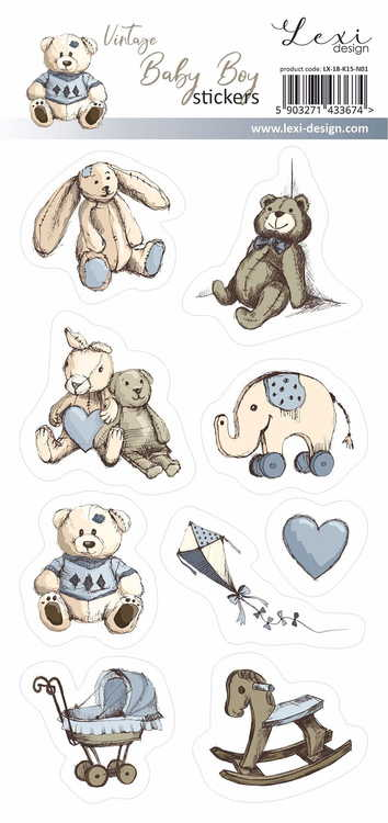 Vintage baby boy stickers