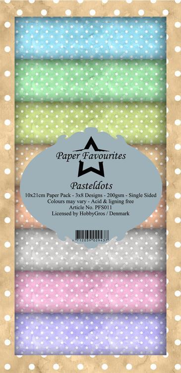 Pastel Dots PFS011 Slim card