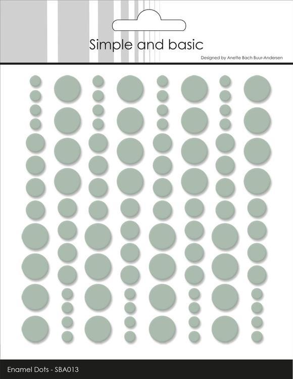 Enamel Dots SBA013 Sage