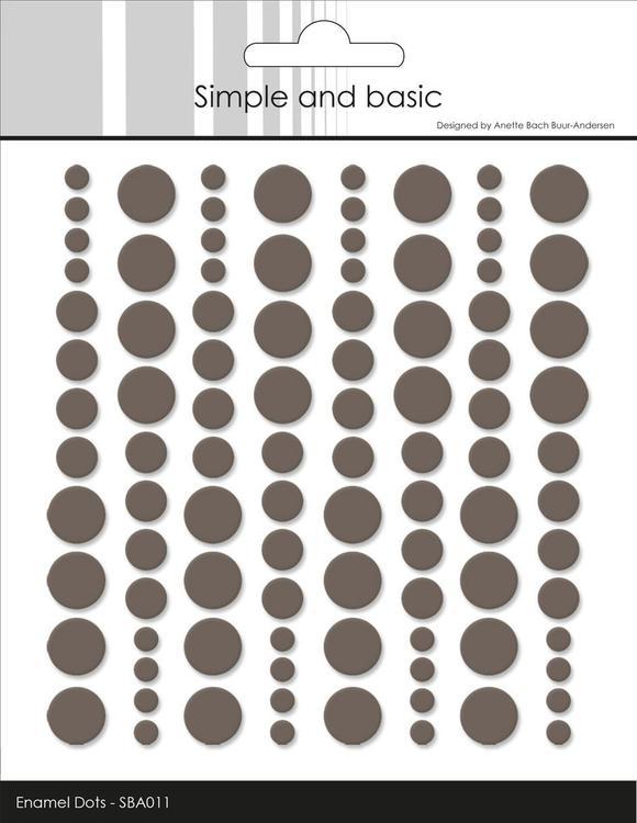 Enamel Dots SBA011 Warm grey