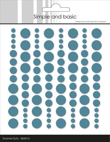 Enamel Dots SBA014 Aqua